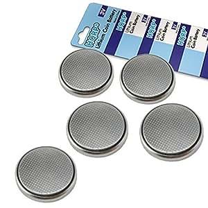 HQRP 5 Piles Bouton Lithium Batteries CR1632 pour Polar FT4, FT4F, FT7, FT7M Moniteur de fréquence cardiaque