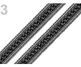 17m 3 piedras de Sílex de la Trenza de la Moldura Con la Decoración del Metal Ancho 13mm, Ropa de Trenzas Y Otros, Adornos, artículos de Mercería