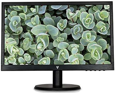 V7 L215DS-2E 55cm (21,5 Zoll) Monitor (DVI, VGA, Full-HD, 5ms Reaktionszeit, Lautsprecher, EEK A, EU+UK-Stecker, mattes Display)