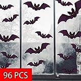 heekpek Halloween Pegatinas para Pared Murciélagos Halloween Decoración Pared Pegatinas Props 96 pcs, Set de Calcomanías para Decoración Mural Posters Pegatinas de Pared Halloween