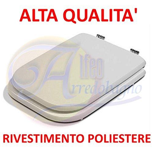 Copriwater ideal standard conca bianco coprivaso poliestere alta qualita'