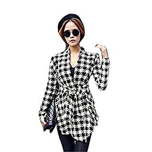 Cardigan Mince des Femmes Coréennes, Familizo Manteau de Vente de Manteau de Vente Chaude (EU36/AsiaM, Noir)