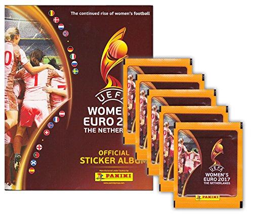 Preisvergleich Produktbild Panini - Fußball UEFA Frauen EURO 2017 - Niederlande Women's EM - Sammelset Album + 5 Booster Tütchen - 25 Sticker