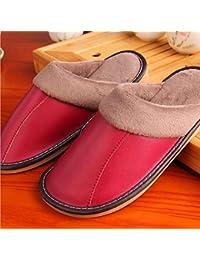 mhgao Ladies Casual zapatillas zapatillas de interior caliente Simple algodón, 1, medium