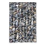 """Doubee personalizzato River Stone Pebble opaco tessuto impermeabile doccia tenda ganci e anelli 121,9x 182,9cm, Poliestere, E, 48"""" x 72"""""""