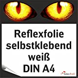 Reflexfolie, weiß reflektierend und selbstklebend, DIN A4 von Interfoil®