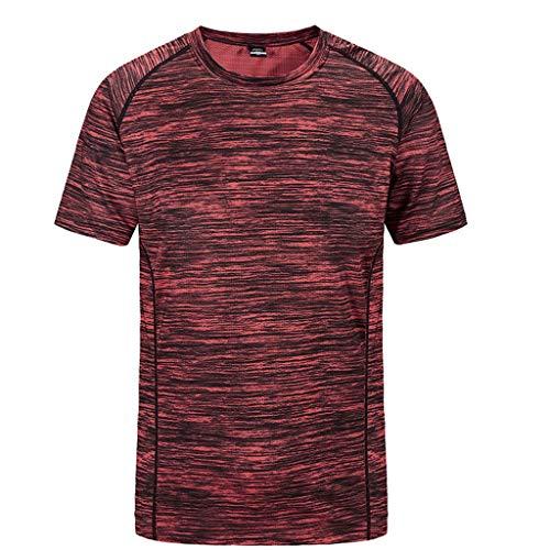 Mymyguoe Camiseta de Secado rápido para Hombres