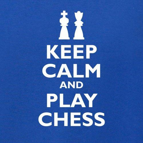 Keep Calm and Play Chess - Herren T-Shirt - 13 Farben Royalblau