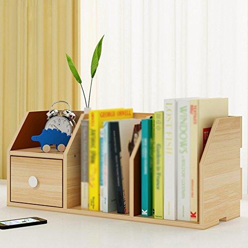 QIANGDA Desktop Bücherregal Kleines Bücherschrank Mit Schublade Lagerregal Lagerregal, 55 X 20 X 24 cm, 5 Farben Verfügbar (Farbe : 2#) -