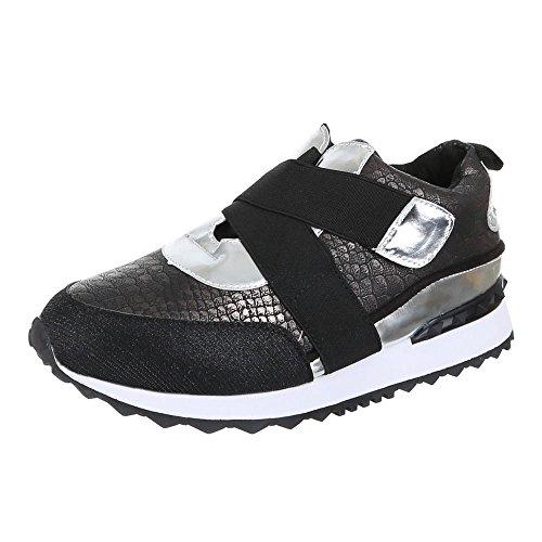 Damen Schuhe, FC-56TT, Freizeitschuhe SNEAKERS TURNSCHUHE Schwarz