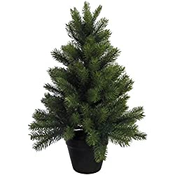 Künstlicher TANNENBAUM im TOPF. Weihnachtsbaum, Kunsttanne ca 60 cm. 135 Triebe.