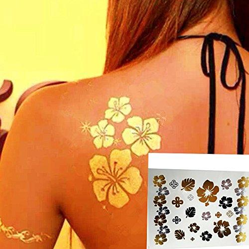 lzc-15x20cm-flor-romantico-mariposa-dorado-totem-impermeable-tatuaje-temporal-metalico-joyeria-braza