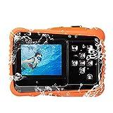 Top Vigor Digital Kamera für Kinder Wasserdicht mit 2.0 '' LCD-Bildschirm, Super HD Unterwasser Action Kamera, Digital Video Camcorder Cam für Sport Schwimmen Tauchen und Beaching