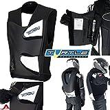 Helite GP Air Aufblasbare Motorradweste mit Airbagfunktion, Leder, Rückenschutz