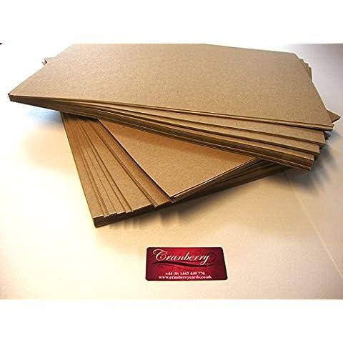 Cranberry Card Company - Cartón (A4, 100% reciclado, marrón, 130 gsm x 50 hojas)