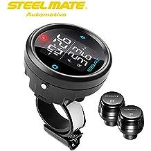 Steelmate EBAT ET-910AE 2-sensori Wireless TPMS LCD Moto Monitor della Pressione dei Pneumatici di Sistema