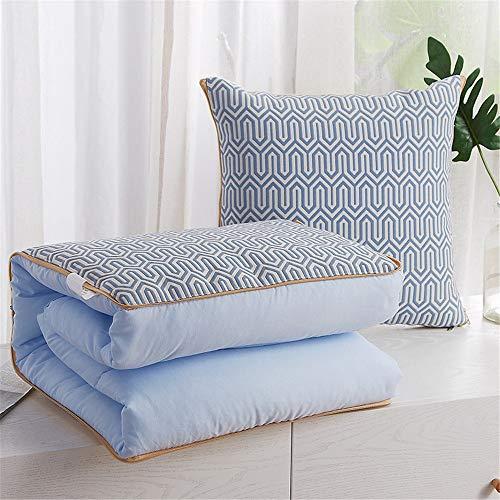 JUNDY Kissenhülle Dekokissen Throw Pillow Covers Für Autos Sofakissen Startseite Dekorative Sofa Bett Home Decor Einfache Vier Jahreszeiten Kissen Quilt colour10 45 * 45 (120 * 160 cm)