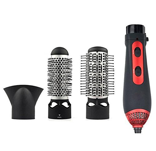 ELEGENCE-Z Sèche-cheveux 3 en 1 brosse à air chaud + stylo à air chaud, 1200W multifonctionnel outils de style ionique négatif rapide styling kit d'air chaud