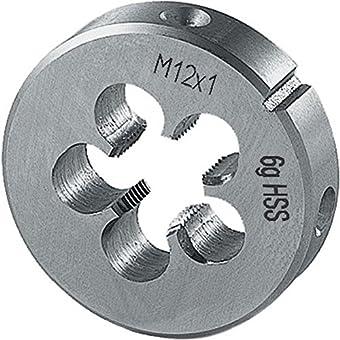 Filière métrique à pas fin, HSS, Filetage : M16, Pas 1,50 mm, Ø extérieur x hauteur 45 x 14 mm