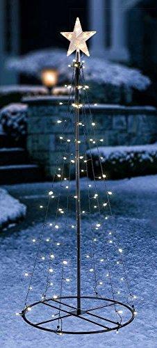 LED Baum 120,180,240cm mit Stern Metall Lichterbaum Weihnachtsbaum Kegelbaum, Baum Längen:120 cm