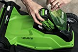 """Greenworks 40V Cordless Lawn Mower 41cm (16"""") with 2Ah battery and charger - 2504707UA"""