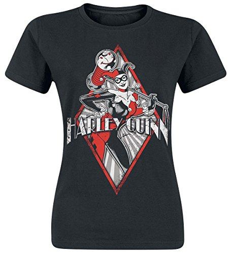 Harley Quinn Diamond Maglia donna nero L