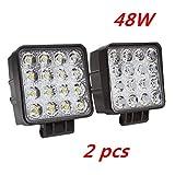 2 W 48 X 4,3' work light 4560LM lumière de travail de LED peut être utilisé comme feu-route feu-croisement et un faisceau de brouillard avant et arrière pour véhicules etc 4 X 4 camion Tracteur bateau véhicules industriels 12 V 24 V