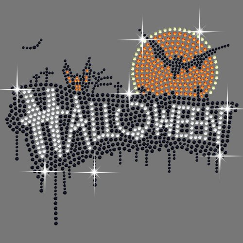 use Eisen auf Bling Strass Transfer (Halloween Strass Transfers)