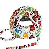 Aolvo - Casco di sicurezza per bambini, ideale per proteggere la testa dagli urti, in cotone, regolabile, decorato con stampe #4