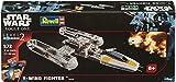 Revell Modellbausatz Star Wars Y-Wing Fighter im Maßstab 1:72, Level 2, originalgetreue Nachbildung mit vielen Details, Steckmechanismus, mit vorbemalten und vordekorierten Teilen, 06699