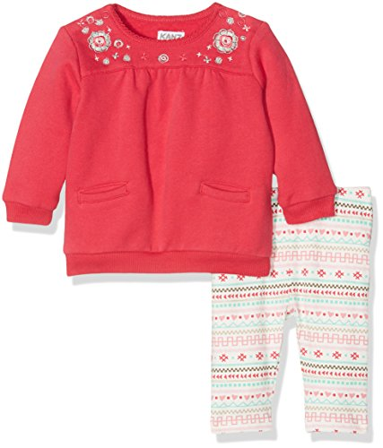 Kanz Tunica 1/1 Arm + Leggings, Set Bambina, Rot (Red Rose 2230), 56