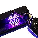 VILLSION 7 Farbwechsel Auto Emblem Schlüsselanhänger mit LED-Licht Schlüsselanhänger für Autoinnenanhänger Zubehör