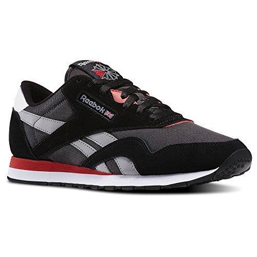9d8b517139de0 Reebok v67669 Men S Classic Nylon Sneaker Black Coal Tin Grey - Best ...
