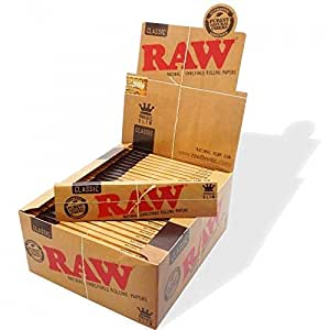 RAW King Size Slim Rolling Papers, Pack of 5