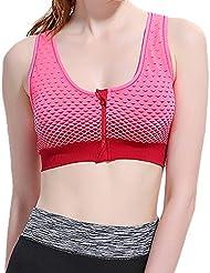 Laixing Buena Calidad Women Yoga Fitness Workout Tank Top Seamless No Rims Racerback Padded Sports Bra