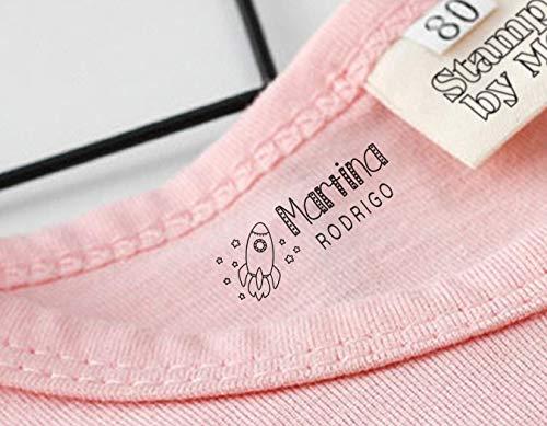 Sello Marcador Ropa Niños Personalizado, Marcador Mine, Marcador Ropa y Libros, Elige entre 9 diseños exclusivos personalizables