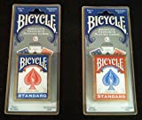 2 New & Sealed Decks of Bicycle Playing Cards - 1 Red & 1 Blue by Bicycle