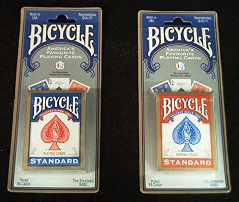 1 X 2 New & Sealed Decks of Bicycle Playing Cards - 1 Red & 1 Blue