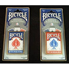 1 x 2 New & sealed Decks of Bicycle carte da gioco – 3 rosso e 3 Blue, Confezione da 6 mazzi