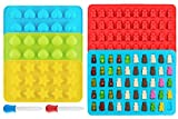 Ecoki Gummibärchen/Schokoladenform 5er Set aus Silikon, LFGB Zertifiziert BPA-frei Silikon Bonbons, Pralinenformen - Herz-, Stern- und Muscheln-Formen für Kinder - MEHRWEG