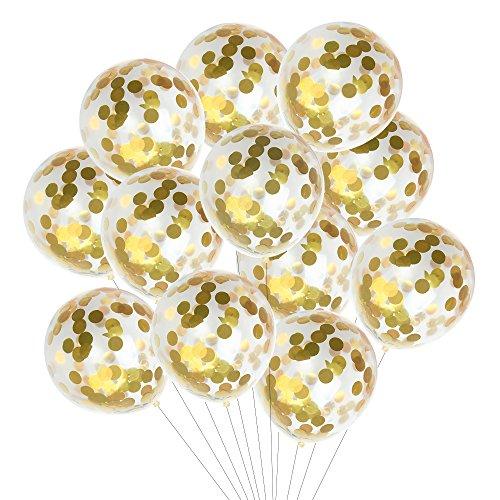 Kuuqa-15-Pezzi-Coriandoli-dOro-Confezioni-12-pollici-per-decorazioni-per-feste-di-compleanno-di-nozze