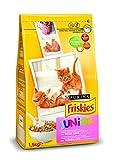 Friskies Junior Alimento para Gato, Seco, Con Pollo, Leche Y Verduras Añadidas - 1,5 Kg
