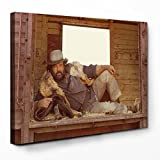 Bud Spencer - Eine Faust geht nach Westen / Buddy goes west - Leinwand (82.5x55cm)