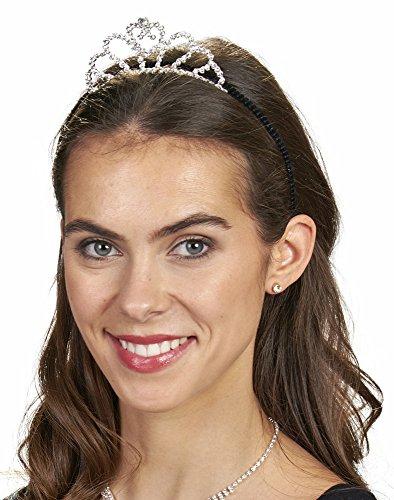 Haarreif mit Diadem und Strasselementen - Bezauberndes Accessoire zu Ihrem Kostüm als Eiskönigin, Prinzessin, Königin zu Fasching, Mottoparty und...