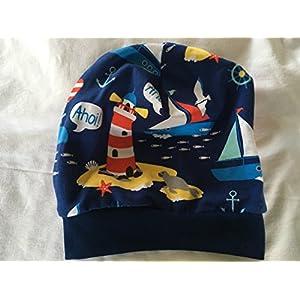 Beanie Mütze Meer dunkelblau, auch gefüttert