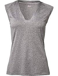 40//42 Crivit Damen Shirt Funktionsshirt Sportshirt Top Grau Gr M