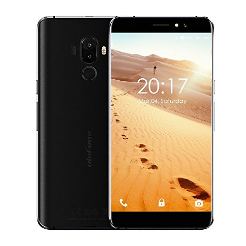 Ulefone S8 Pro 4G Smartphone 5.3 Zoll Android 7.0 MTK6737 Viererkabel-Kern 1.3GHz 2GB RAM 16GB 13.0MP + 5.0MP verdoppeln hintere Kameras Fingerabdruck-Noten-Sensor (Schwarz)