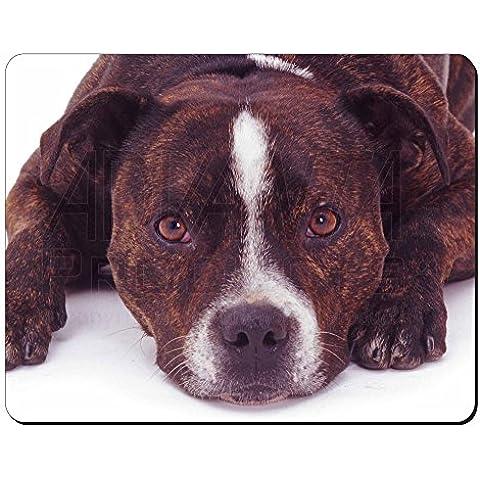 Staffordshire Bull Terrier Dog Tappetino mouse del computer pad regalo di natale