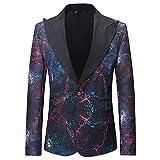 Binggong Herren Anzug Männer Anzug Schmale Passform Mode Drucken Strickjacke Mantel Lange Ärmel Einfach Anpassung Geeignet Geschäft Hochzeit Freizeit