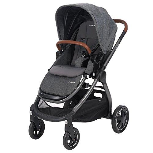 Maxi Cosi Adorra komfortabler Kombi Kinderwagen für ihr Kind, mit riesigem Einkaufskorb, einhändigem Faltmechanismus und geringem Gewicht von unter 12 kg ab Geburt bis ca. 3,5 Jahre, sparkling grey